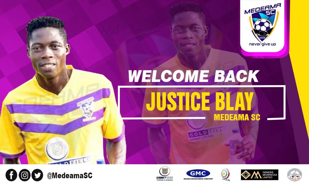 Justice Blay is Back Home - Medeama SC